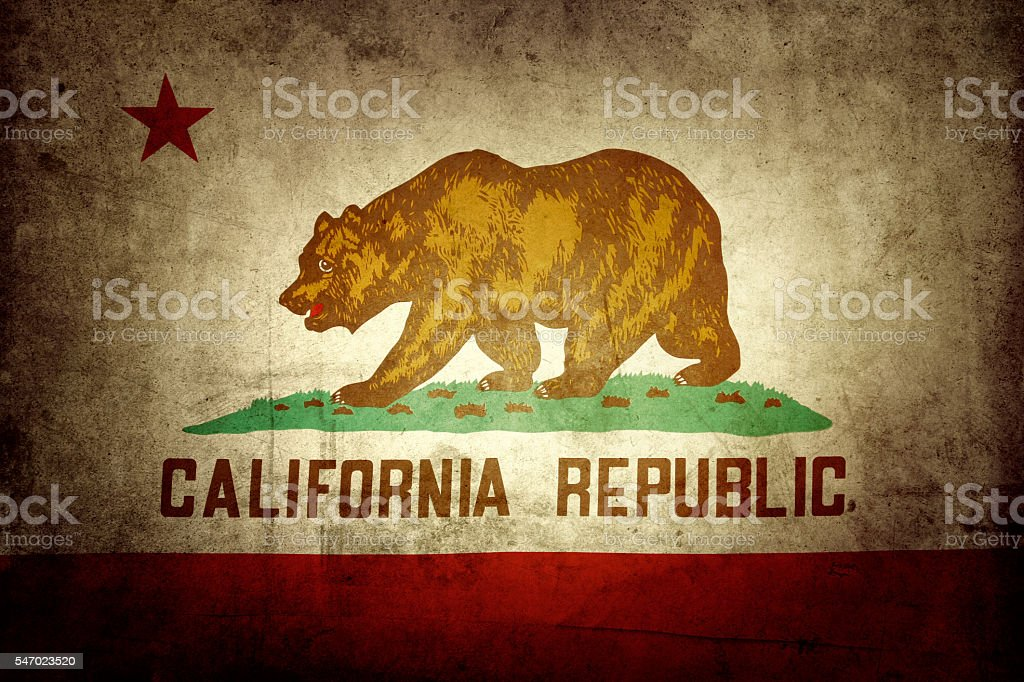 Bandera de California - foto de stock