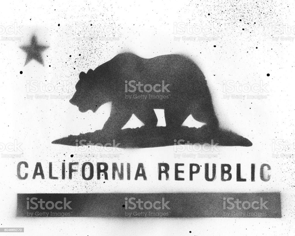 California Flag Stencil stock photo
