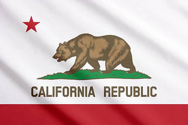 Bandera de California Saludar con la mano - foto de stock