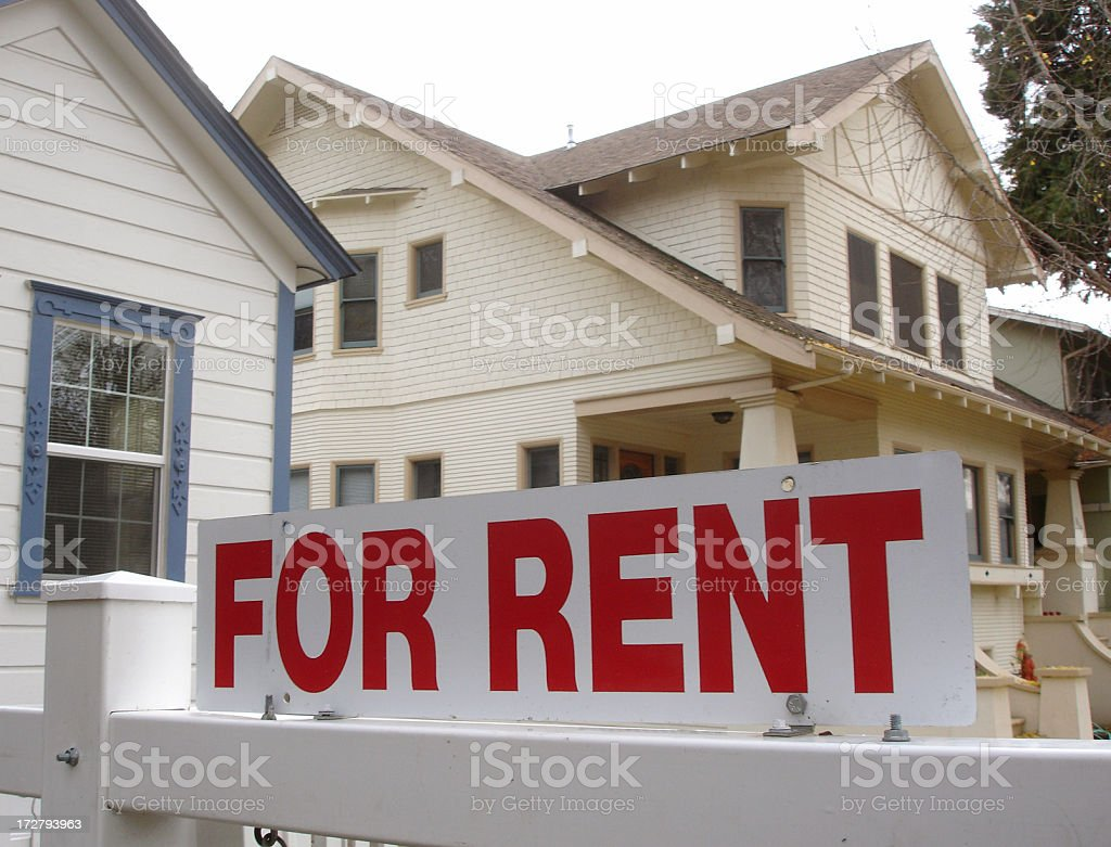 California for rent real estate sign royalty-free stock photo