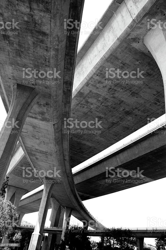 California Freeway Interchange royalty-free stock photo