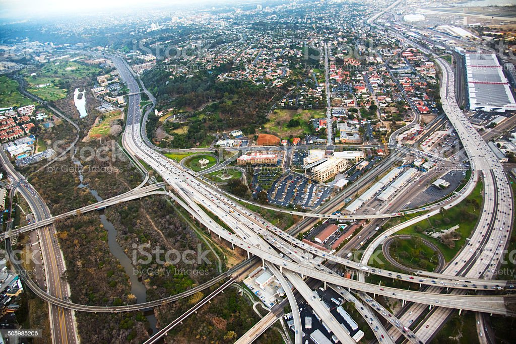 California Freeways From Above stock photo
