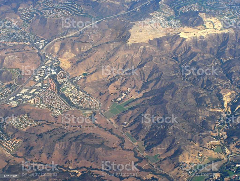 California from Above (1) royalty-free stock photo
