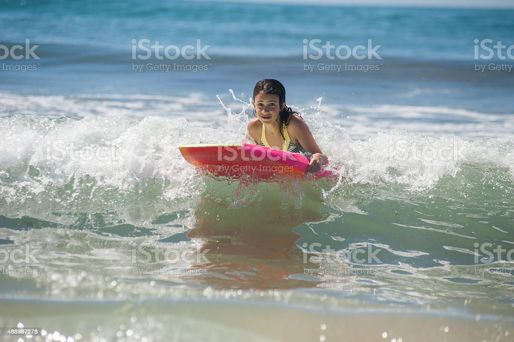 California girls grow up in the water stock photo