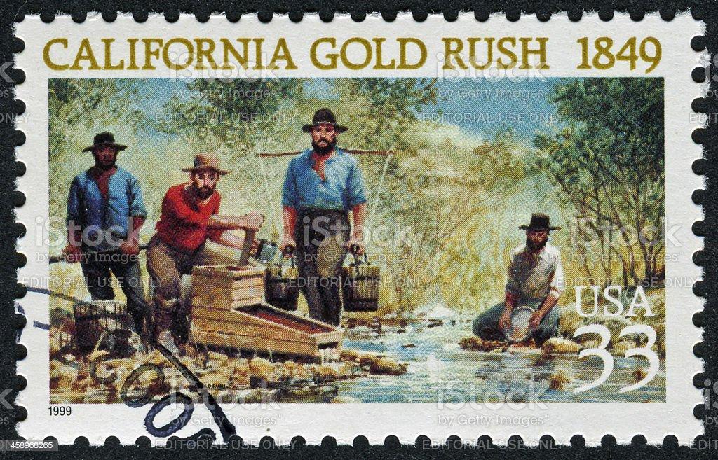 California Gold Rush Stamp stock photo