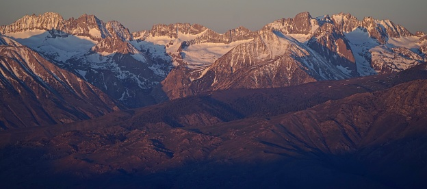 Central California's High Sierra Range. Kings Canyon National Park Edge. Inyo National Forest. Palisades Glacier.