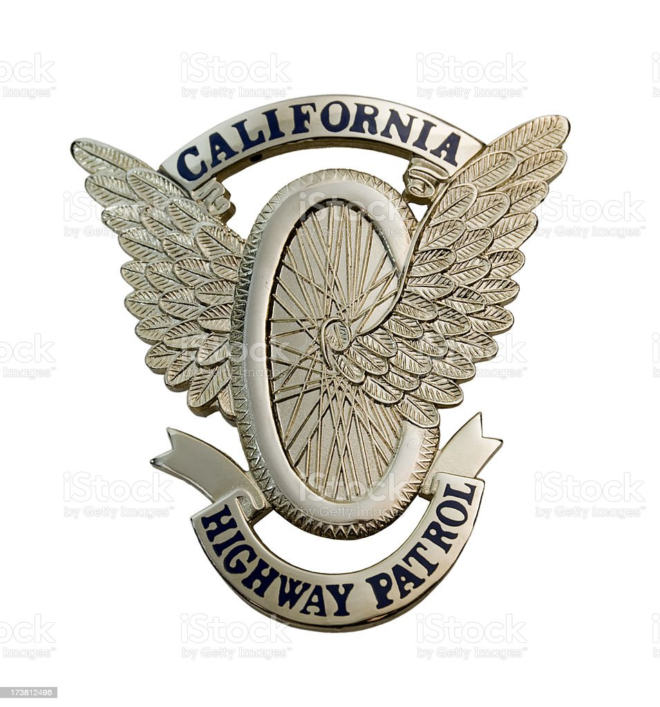 "california highway patrol ""wings"" badge royalty-free stock photo"
