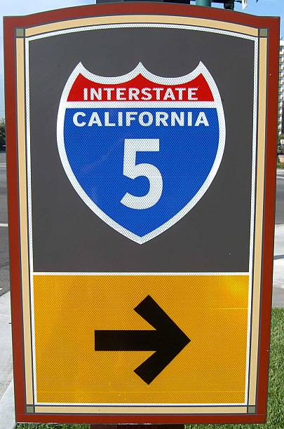 california interstate sign stock photo