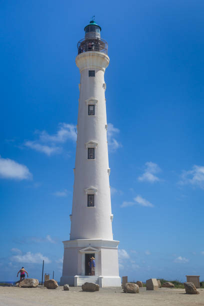 California Lighthouse, Aruba stock photo