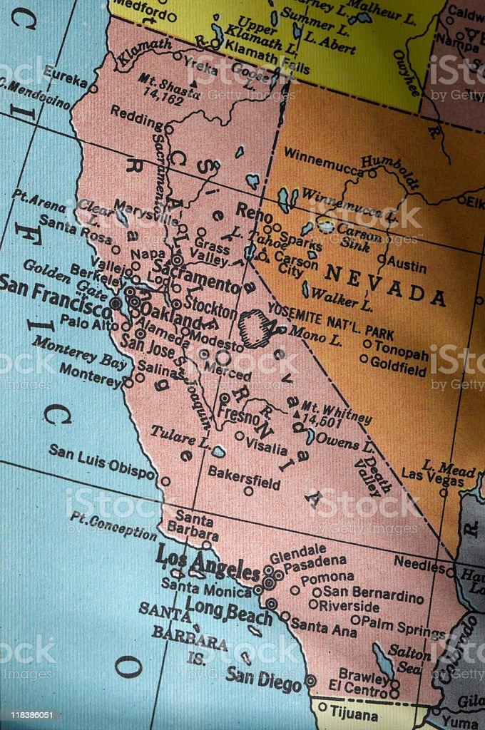 Mapa de California - foto de stock