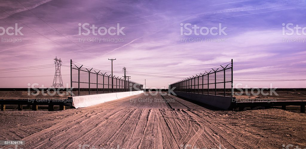 California - Mexico Border stock photo