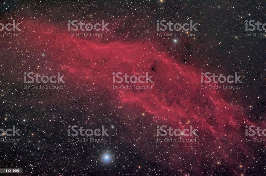 California nebula - Milky way royalty-free stock photo