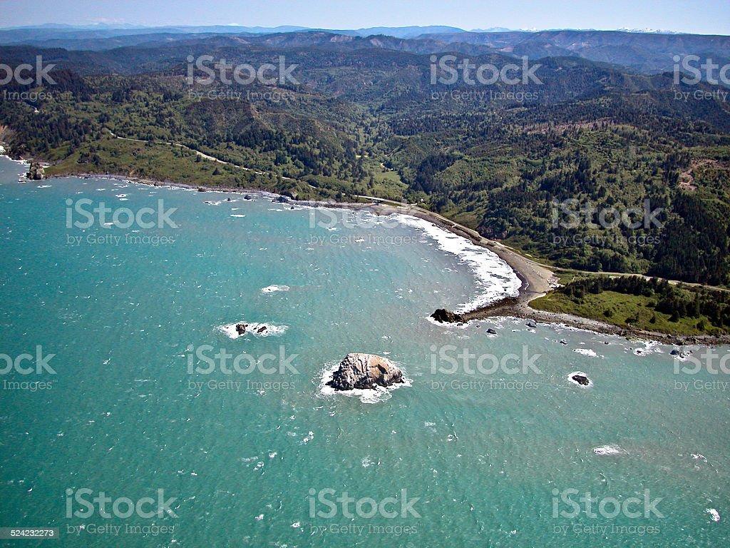 California Northcoast Aerial stock photo