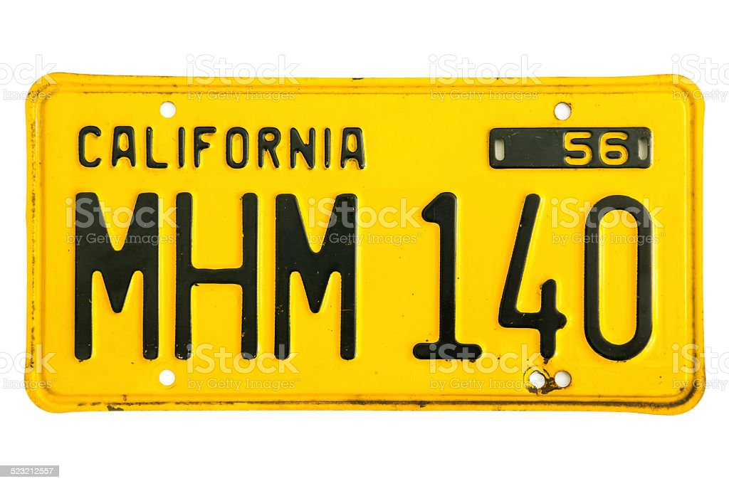 California Number Plate stock photo