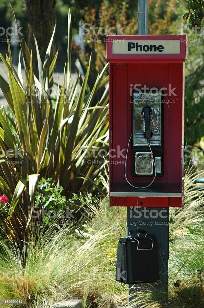 California Payphone royalty-free stock photo