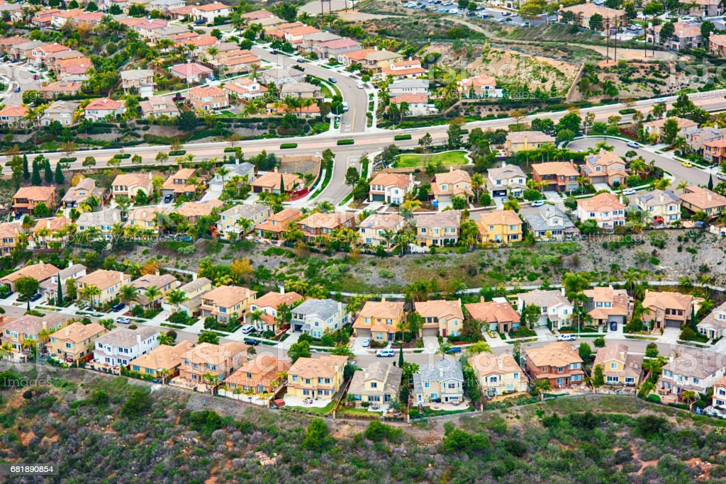 California Planned Residential Community stock photo