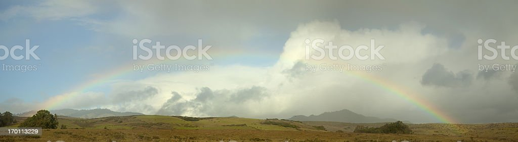 Rainbow Panorama de California - foto de stock