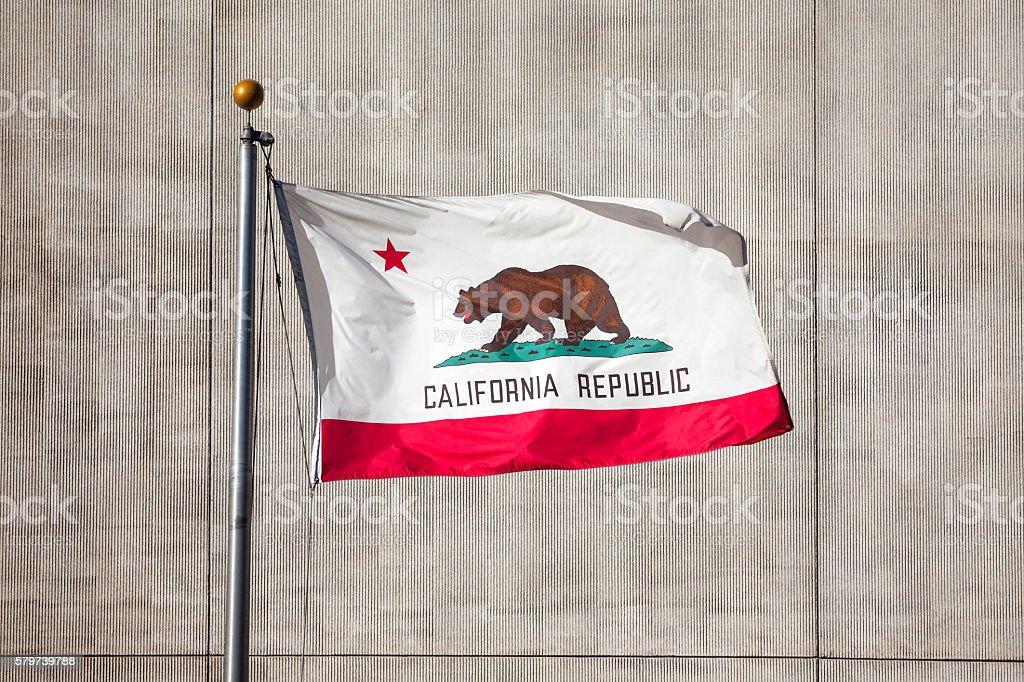 California Republic flag stock photo