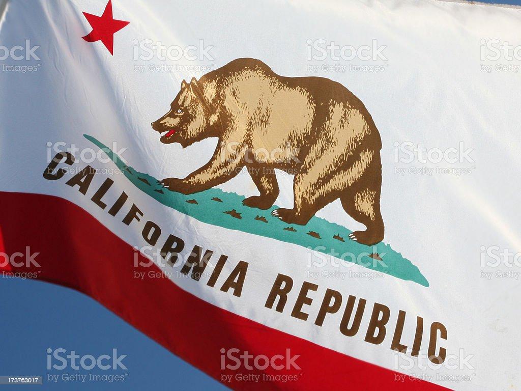 California Republic State Flag stock photo