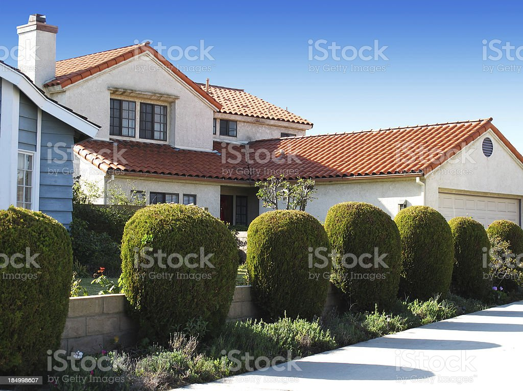 California residential architecture stock photo