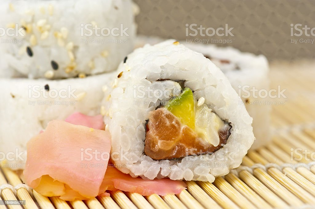 California roll royalty-free stock photo