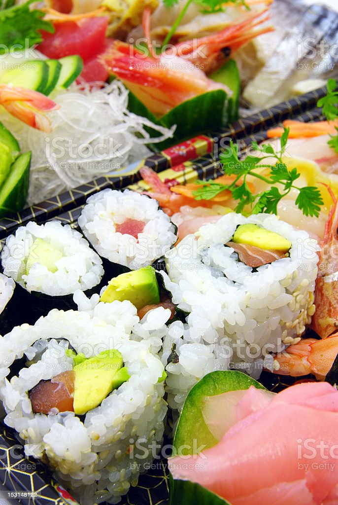 California rolls, and sushi royalty-free stock photo