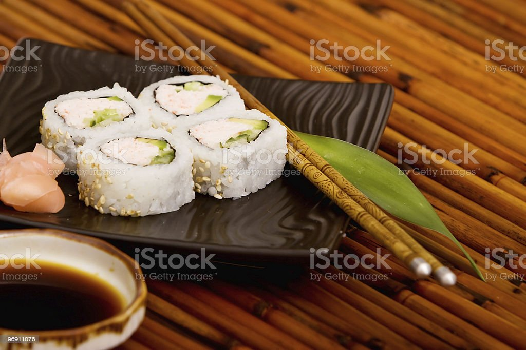 California rolls royalty-free stock photo