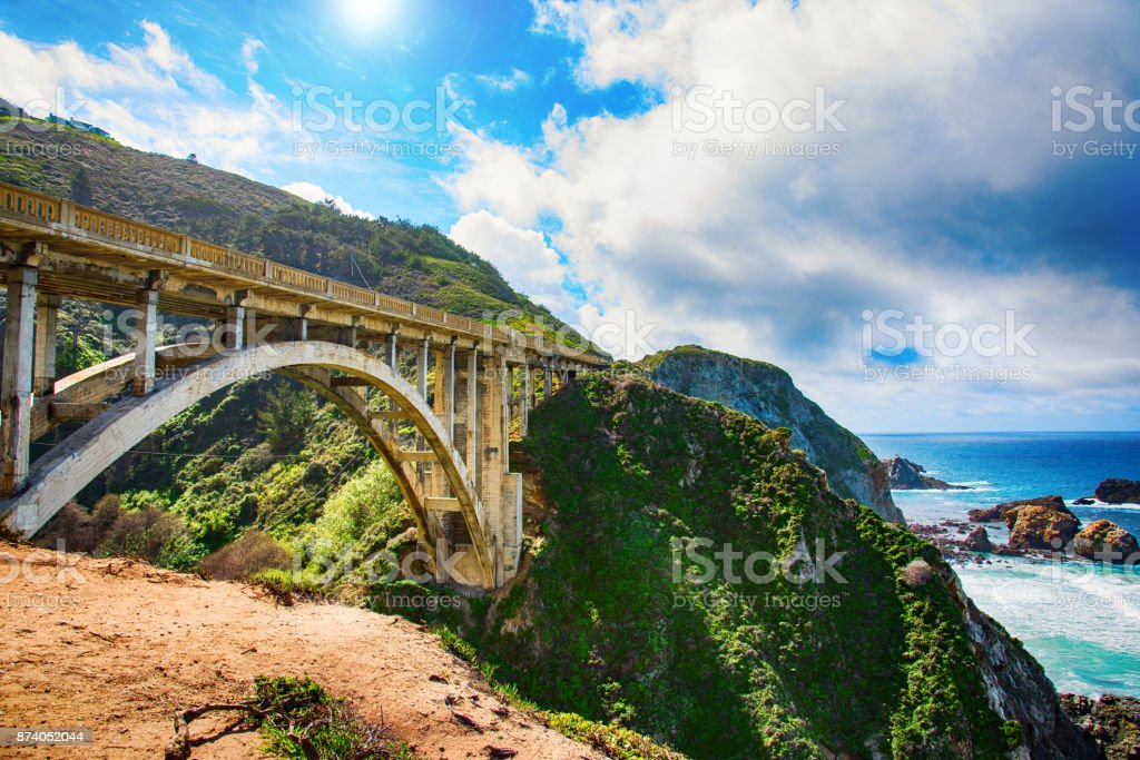 California Route 1 Bridge stock photo
