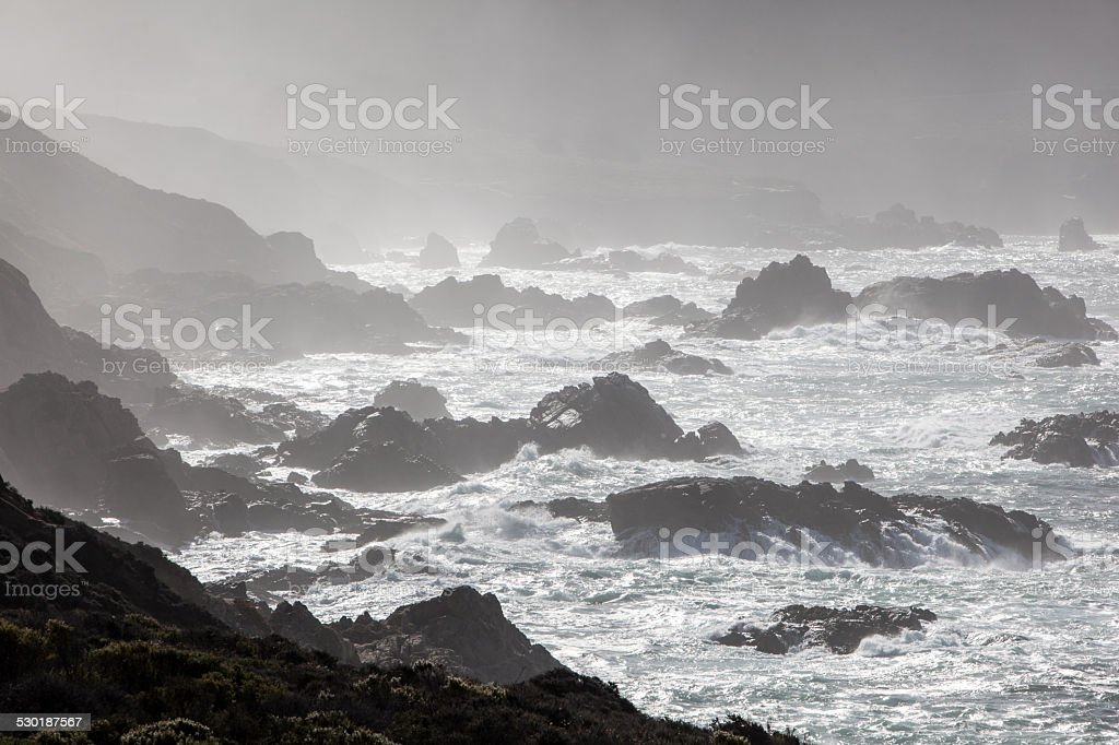 California Rugged Coast stock photo