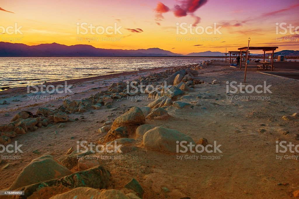 California Salton Sea stock photo