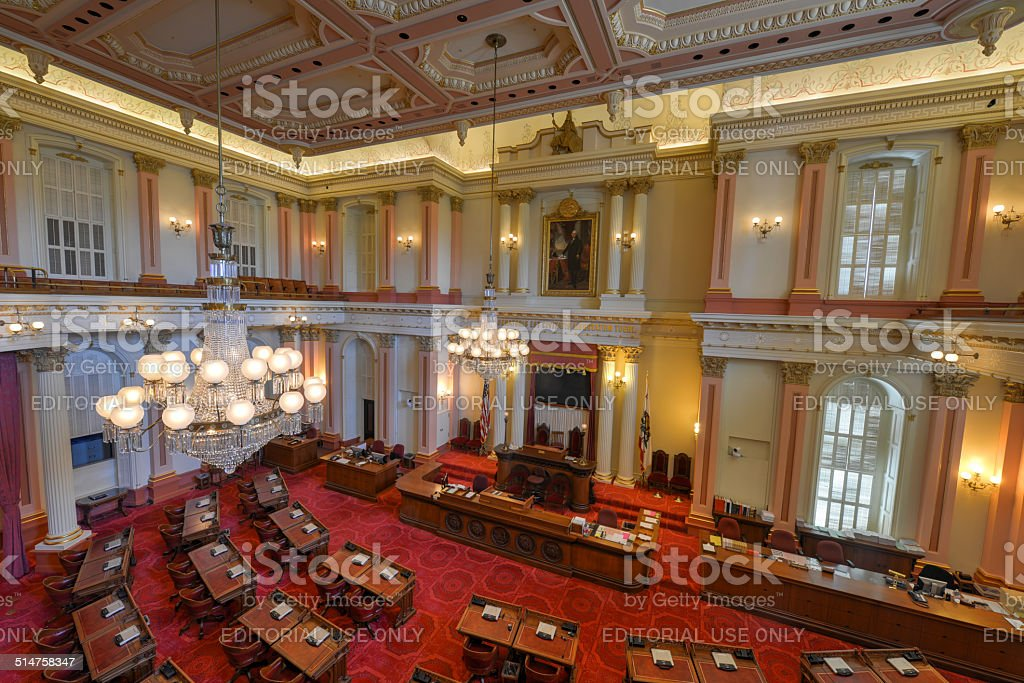 California Senate Chamber stock photo