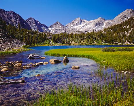 Alpine basin in the Sierra Nevada Range near Bishop, California