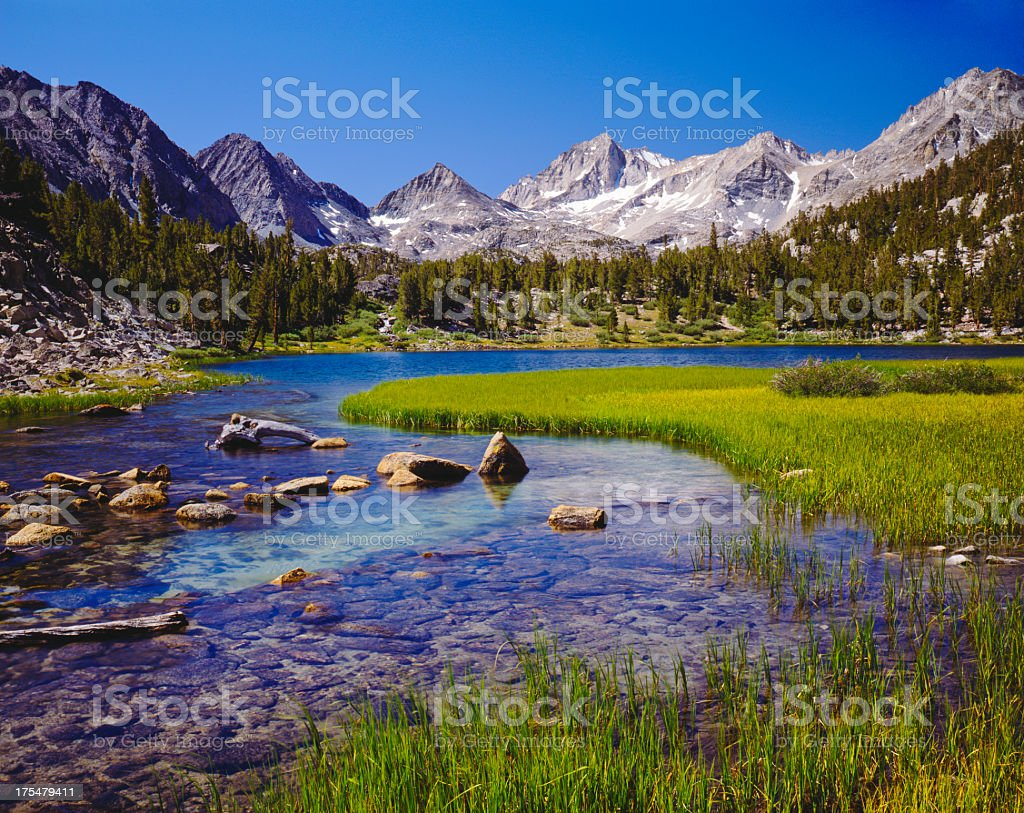 California Sierra Nevada Range stock photo