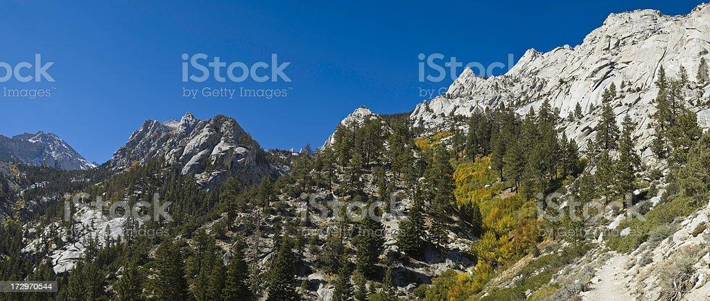 California Sierra wilderness trail royalty-free stock photo