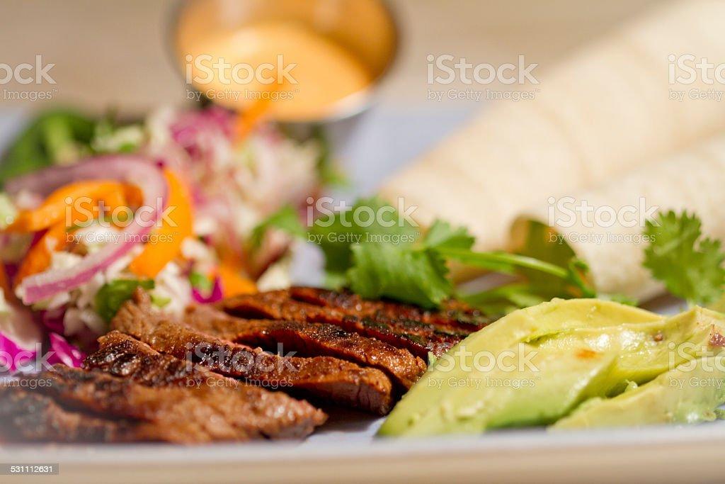 California Skirt Steak Taco stock photo