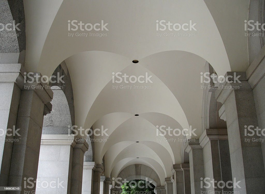 California state capitol Arched foyer Ceiling royalty-free stock photo