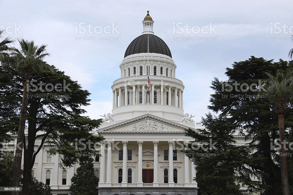 California State Capitol Building al crepuscolo foto stock royalty-free