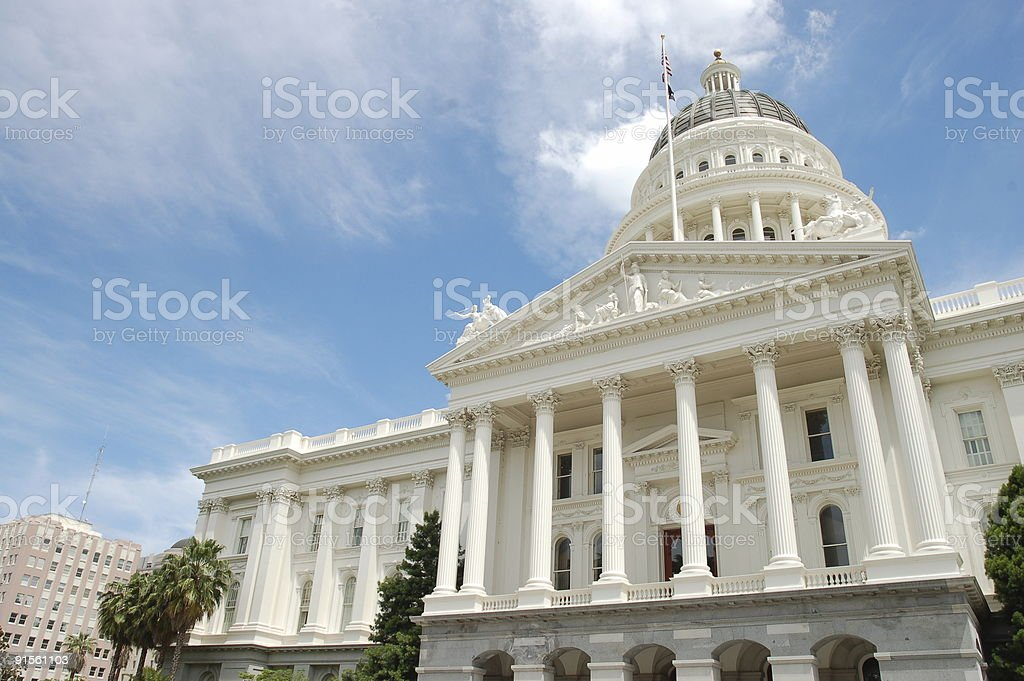 California State Capitol Building in Downtown Sacramento royalty-free stock photo