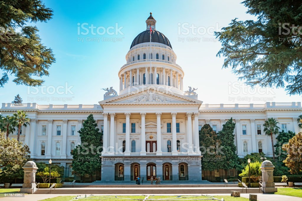 California State Capitol building in Sacramento California USA stock photo