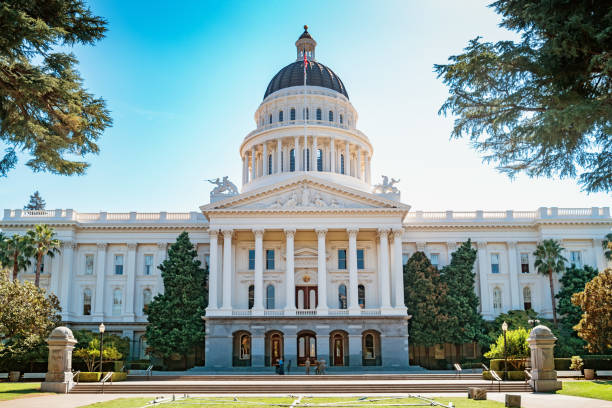 California State Capitol building in Sacramento California USA Stock photograph of the exterior of the California State Capitol building in Sacramento California USA state capitol building stock pictures, royalty-free photos & images