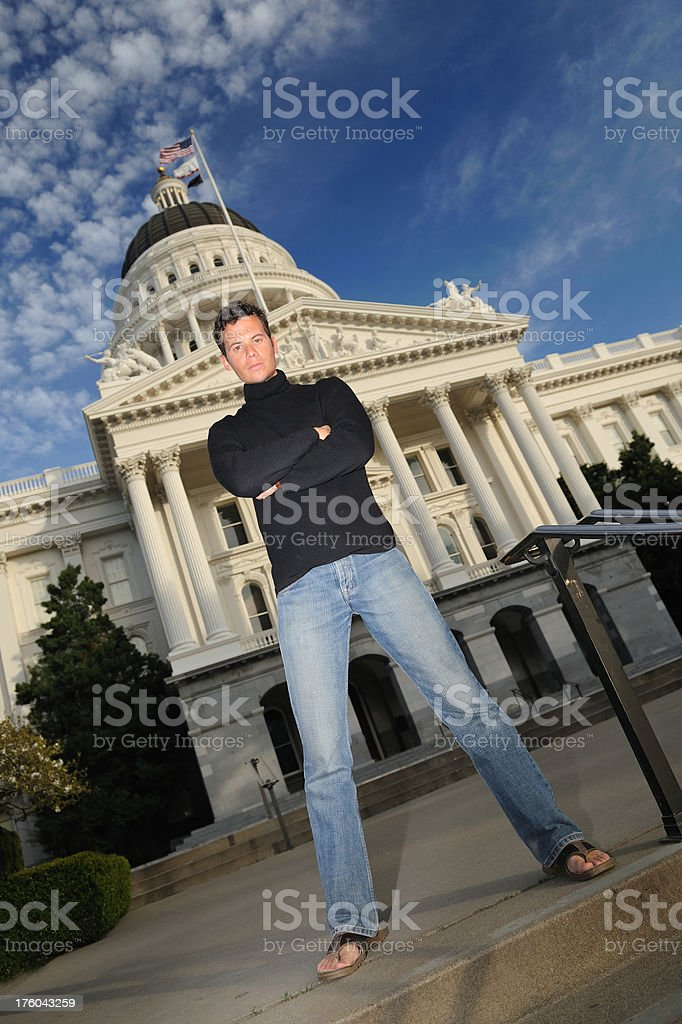 NOT IN MY HOUSE - California State Capitol stock photo