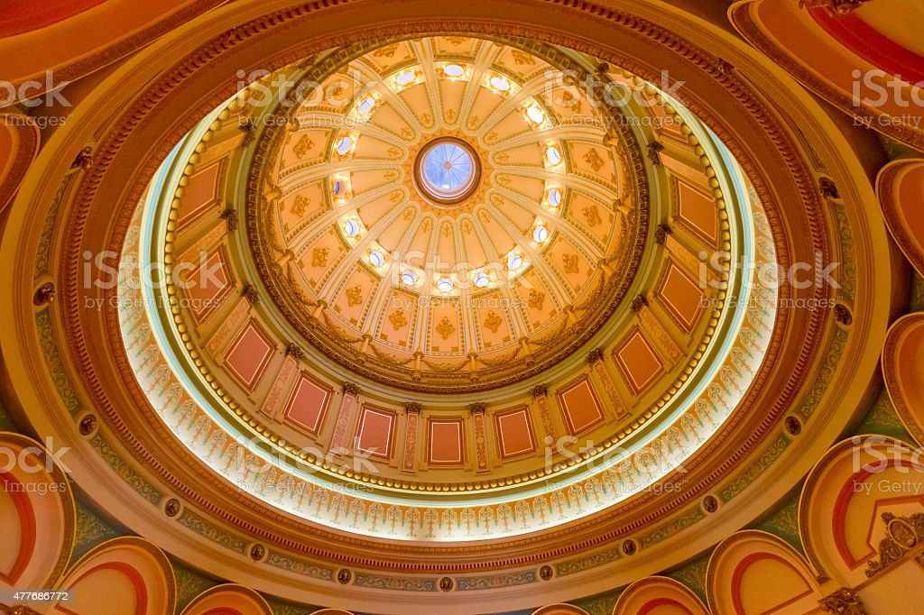 California State Capitol Rotunda in Sacramento, CA, USA stock photo