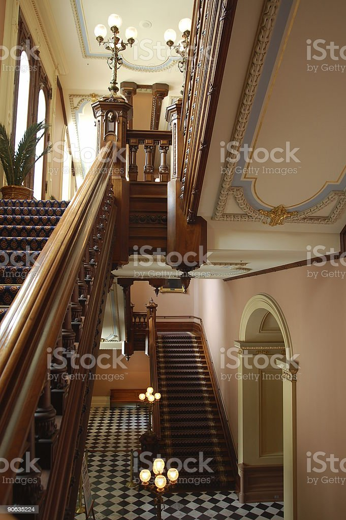 California State Capitol Staircase stock photo