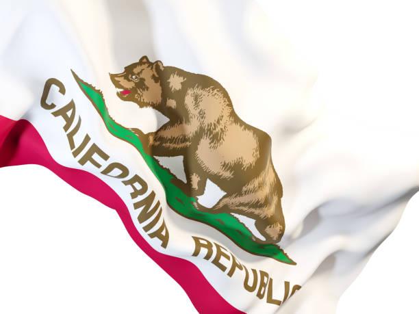 Bandera del estado de California de cerca. Indicadores locales de Estados Unidos - foto de stock