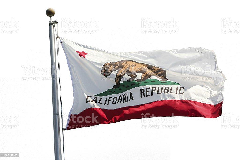 California State Flag isolated on white stock photo