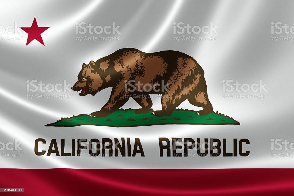 California State Flag stock photo