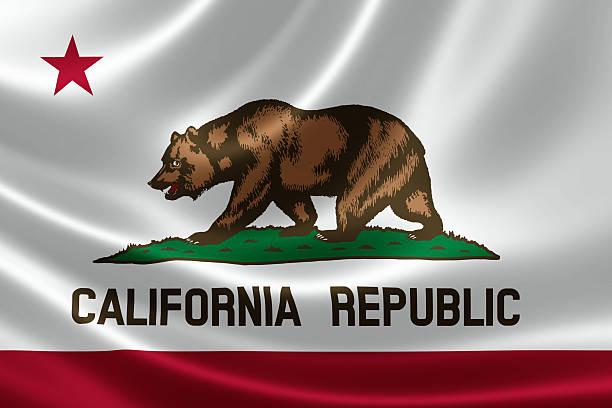 Bandera del estado de California - foto de stock