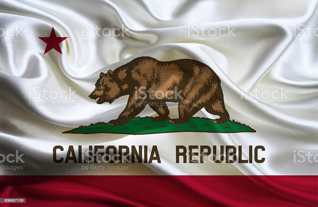 Bandera del estado de California - foto de stock