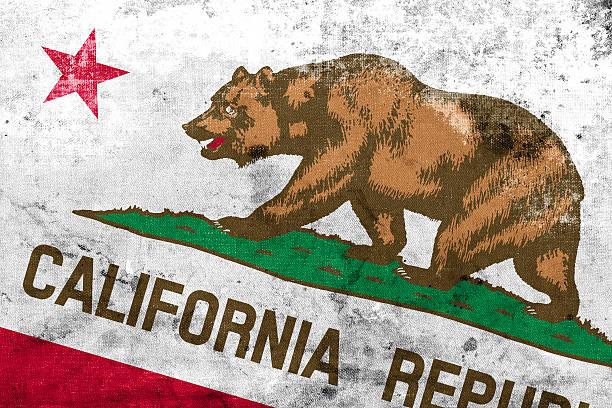 Bandera del estado de California, con un estilo vintage y viejo - foto de stock