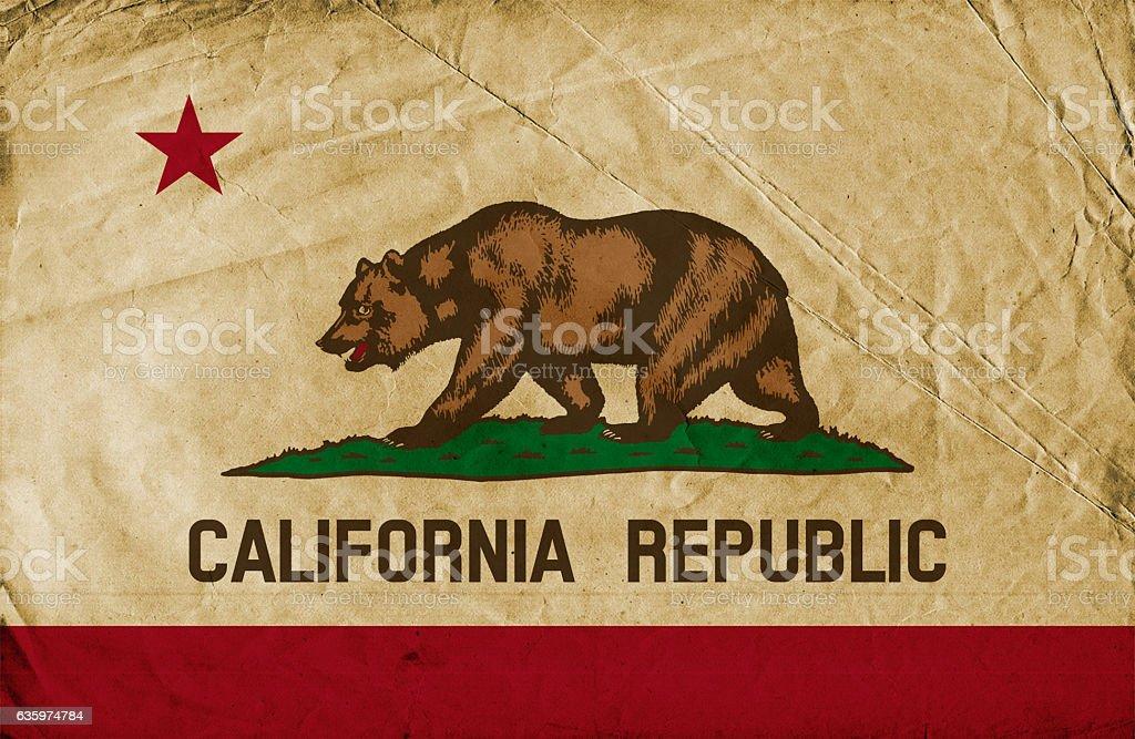 California State grunge flag stock photo